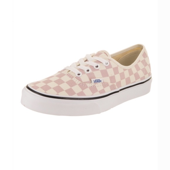 Vans Authentic Checkerboard Caulk Pink Shoes NWT